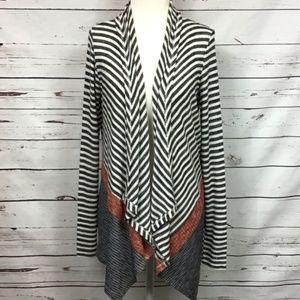 Anthro Hem & Thread Open Front Cardigan Sweater